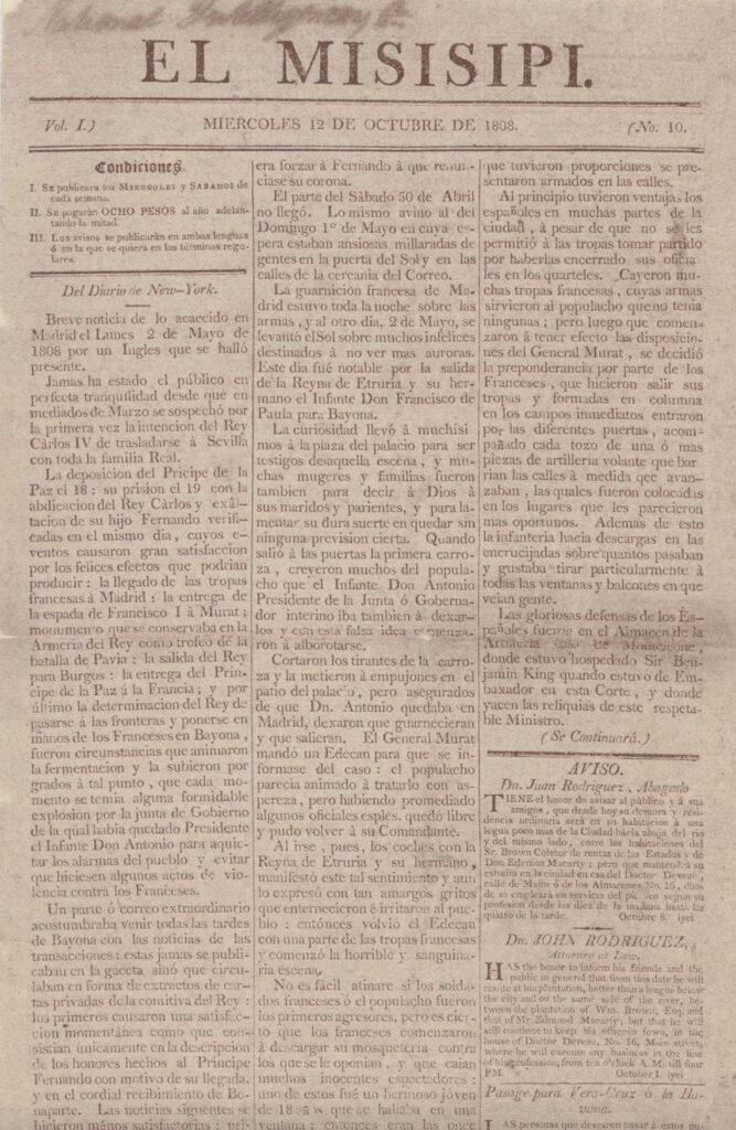 Facsimile of a newspaper
